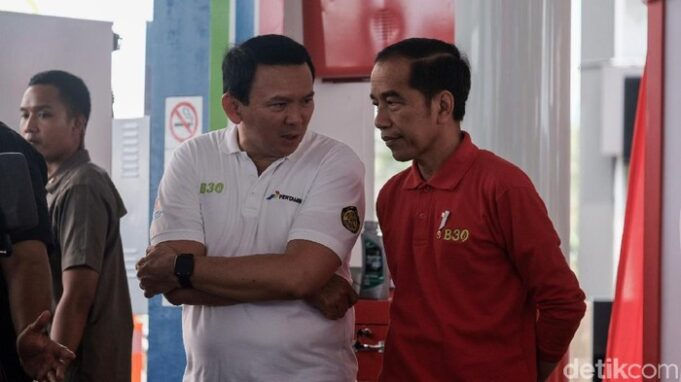Ahok dan Jokowi saat Peresmian B30 / Foto: Andhika Prasetia/detikcom
